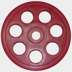 "Олимпийский диск евро-классик с хватом ""Ромашка"" Oxygen, 25 кг."