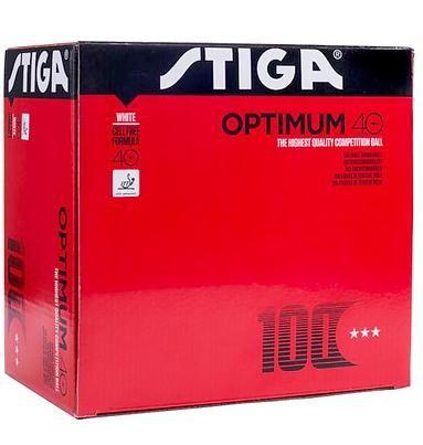 Мячи теннисные пластиковые Stiga Optimum 40+ (Белый) 100 шт 1113-1710-10