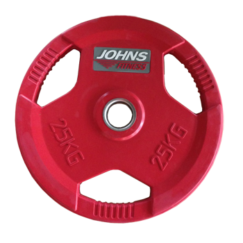 Диск 25 кг. обрезиненный JOHNS (91010-25 C), цвет красный