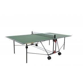 Теннисный стол для помещений SUNFLEX OPTIMAL INDOOR (зеленый), 254896 + ракетки