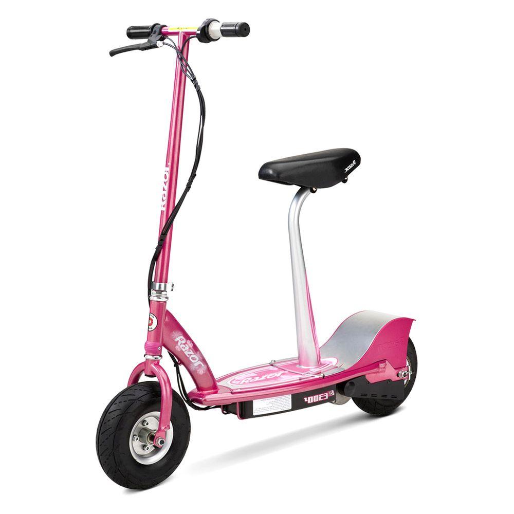 Электросамокат с сиденьем Razor E300S Sweet Pea Розовый 011002