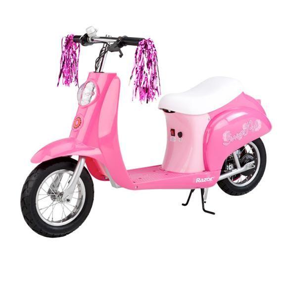 Электромотоцикл для девочек Razor Pocket Mod Bella розовый 040902