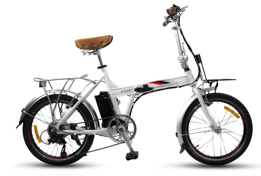 Велогибрид Smart Electric Fold (складной, белый)