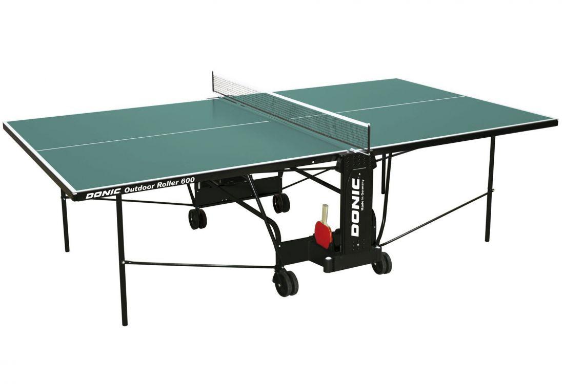 Всепогодный Теннисный стол Donic Outdoor Roller 600 зеленый