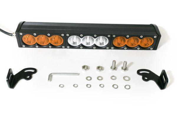 Однорядная светодиодная балка комбинированного янтарно-белого свечения V10 - 90W CREE
