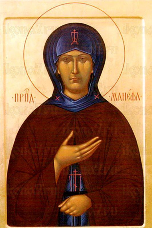 Манефа Гомельская (рукописная икона)