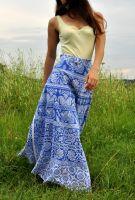 Длинная индийская юбка с запахом, интернет-магазин Ind Bazaar (фото для примера)