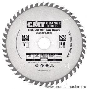CMT 292.210.48M Диск пильный для поперечного реза 210x30x2,8/1,8 15гр 15гр ATB Z48
