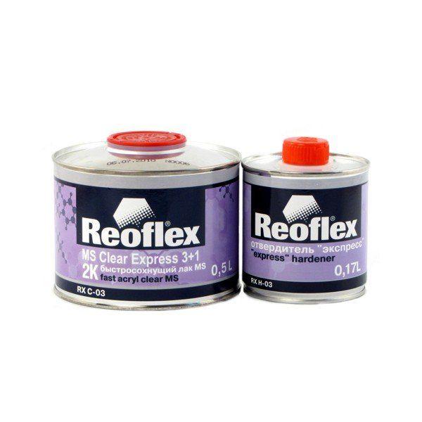 """Reoflex Лак Акриловый 2K """"Экспресс"""" 3+1, (комплект), 500мл. + 167мл."""