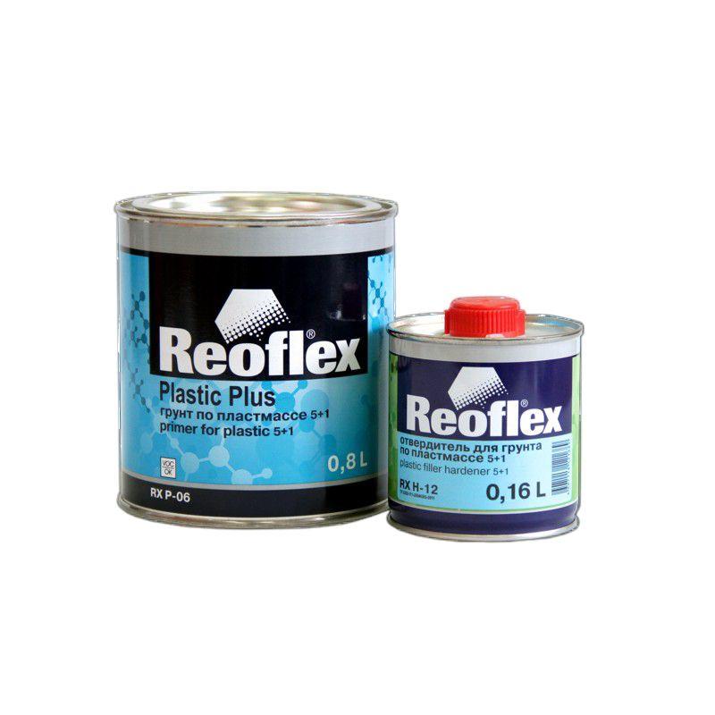 Reoflex Грунт выравниватель по пластмассе 2К 5+1 серый (комплект), 800мл. + 160мл.