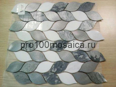AL16. Мозаика серия Металл чип 70*35 размер, мм: 275*280*10 (Happy Mosaic)