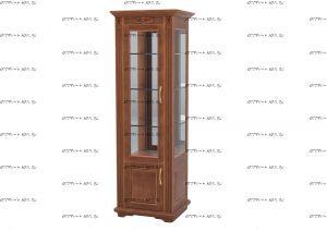 Шкаф-витрина 1-дверный Палермо Массив DreamLine  (71х54х220)