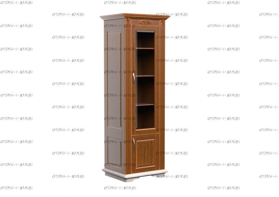 Шкаф-библиотека 1-дверный Палермо Массив DreamLine (71х54х220)