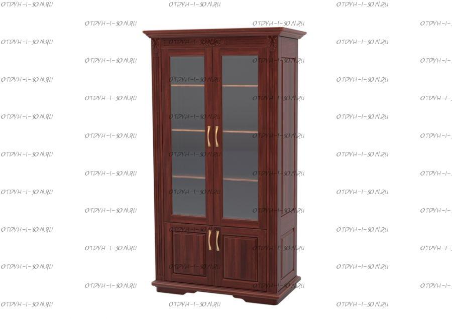 Шкаф-библиотека 2-дверный Палермо Массив DreamLine (116х54х220)