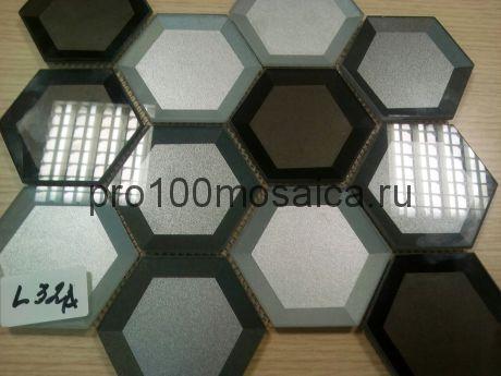 L32A. Мозаика серия Стекло чип 75*80, размер, мм: 225*260*10 (Happy Mosaic)