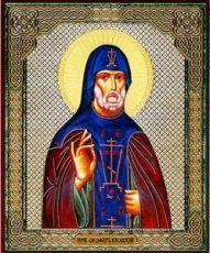 Феофил Киевский   (рукописная икона с резьбой)