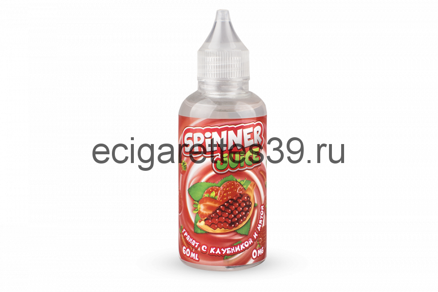 Жидкость Spinner Juice Гранат с клубникой и мятой, 60 мл.