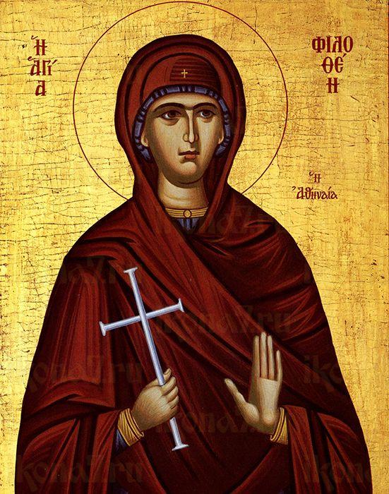 Филофея Афинская (рукописная икона)
