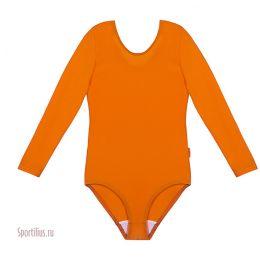 Купальник для гимнастики оранжевый