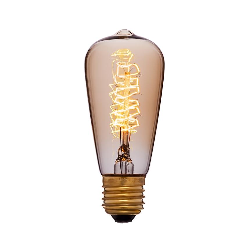 Ретро лампа Эдисона ST48 F5 40W
