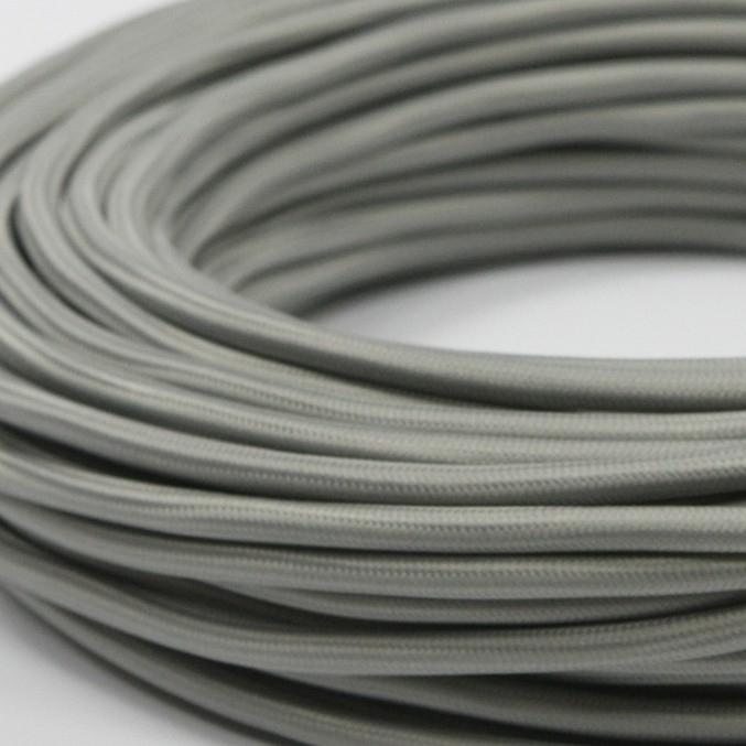Круглый Ретро провод 2Х0.75 серый