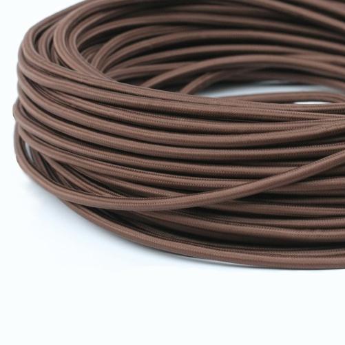 Круглый Ретро провод 2Х0.75 шоколад