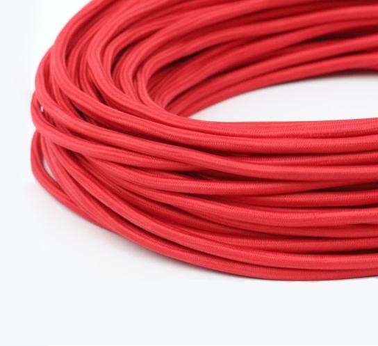 Круглый Ретро провод 2Х0.75 красный