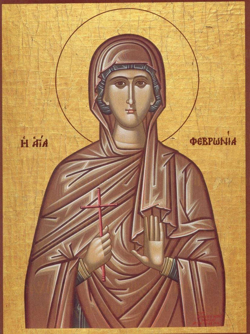 Феврония Сирская  (рукописная икона)
