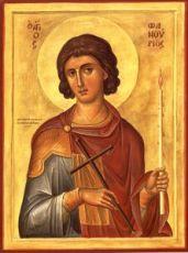 Фанурий Критский (Родоский) (рукописная икона)