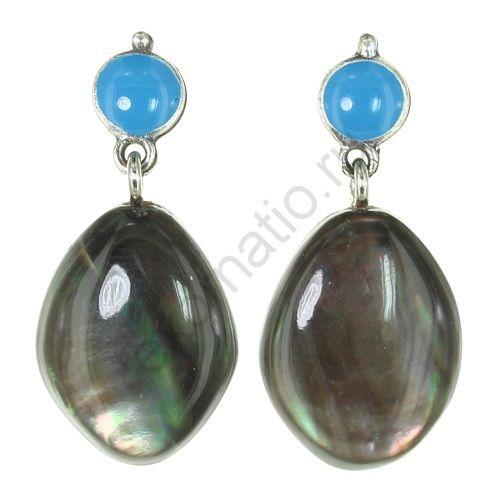 Серьги Nature Bijoux 12-33855. Коллекция Aqua di blue