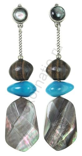 Серьги Nature Bijoux 12-33844. Коллекция Aqua di blue