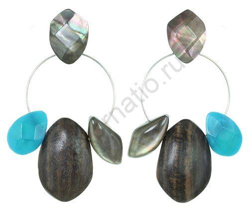 Серьги Nature Bijoux 12-33843. Коллекция Aqua di blue
