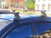 Багажник на крышу Kia Rio (c 2017г, sedan), Атлант, прямоугольные дуги