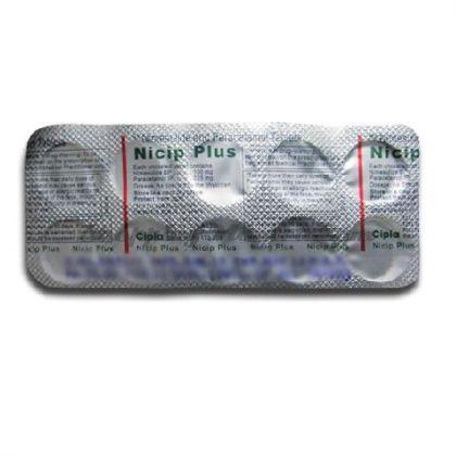 Ницип Плюс (нимесулид 100мг + парацетамол 325мг) нестероидный противовоспалительный препарат Ципла Фарма / Cipla Nicip Plus Tablets
