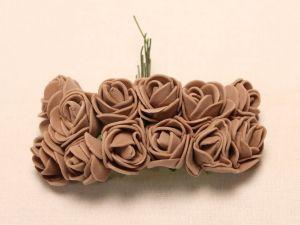 Цветы из фоамирана, 25 мм, 6х12шт, цвет: коричневый