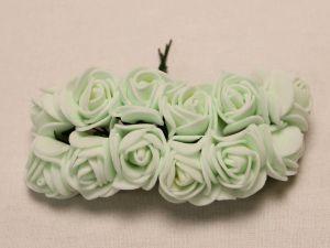 Цветы из фоамирана, 25 мм, 6х12шт, цвет: бледно-зеленый