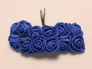 Цветы из фоамирана, 25 мм, 6х12шт, цвет: синий