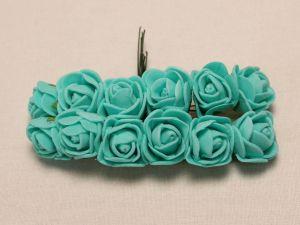 Цветы из фоамирана, 25 мм, 6х12шт, цвет: зеленый мятный