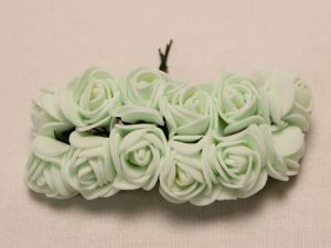 `Цветы из фоамирана, 25 мм, 11-12 цветков, цвет: бледно-зеленый