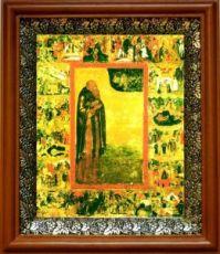 Антоний Сийский (19х22), светлый киот