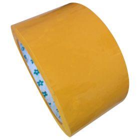 Скотч упаковочный жёлтый  длина 140 м.,ширина 57 мм. пр-во Китай/5/25/