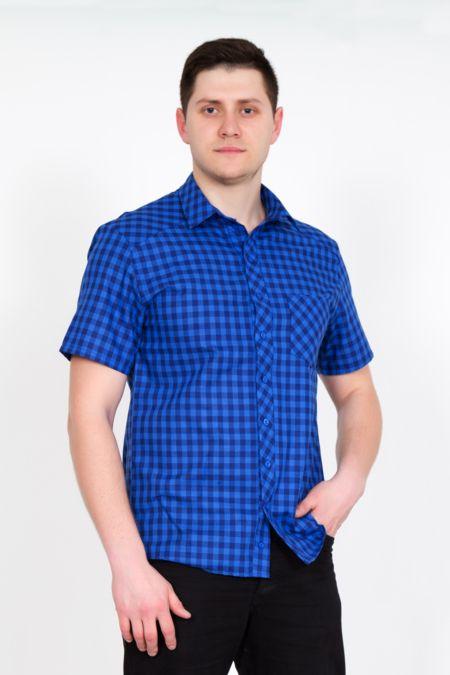 """Мужская рубашка """"Ромио"""" синяя"""