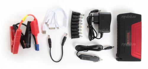 Портативное пуско-зарядное устройство для автомобиля Multifunctional Jump Starter High-Power TM15 RED (Красный, 38000 мА/ч)