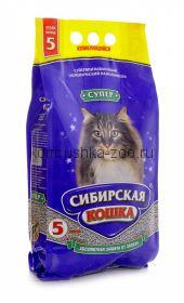 """Сибирская кошка комкующийся наполнитель """"Супер"""""""