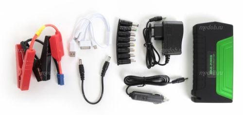 Портативное пуско-зарядное устройство для автомобиля Multifunctional Jump Starter High-Power TM15  Green (Зеленый, 38000 мА/ч)
