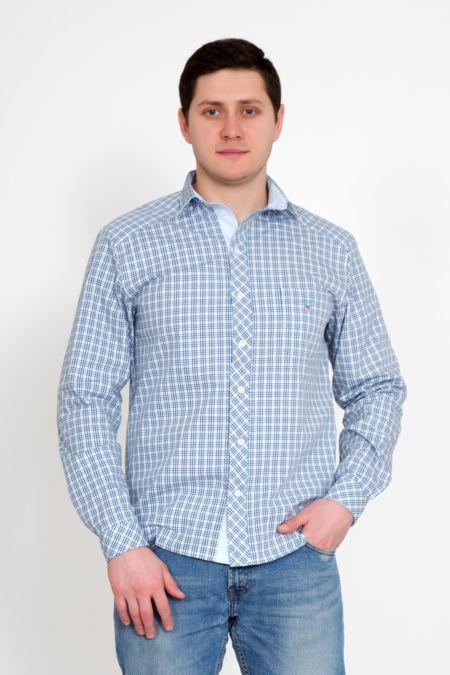 """Мужская рубашка """"Новик"""" голубая"""