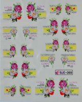 Водная наклейка для дизайна ногтей BJC - 069