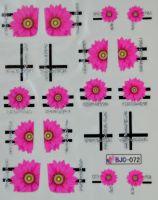 Водная наклейка для дизайна ногтей BJC - 072