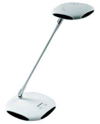 Светильник настольный светодиодный Supra SL-TL322 5W(300lm) пластик белый+черн., 2700-6500, диммир.