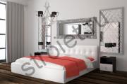 Кровать с подьемным механизьмом Оскар 73-1 белая,беж, коричневый1600*2000